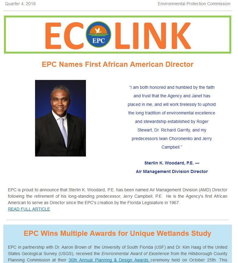 EPC ECOLINK Newsletter Quarter 4 2018 | News List | EPC of