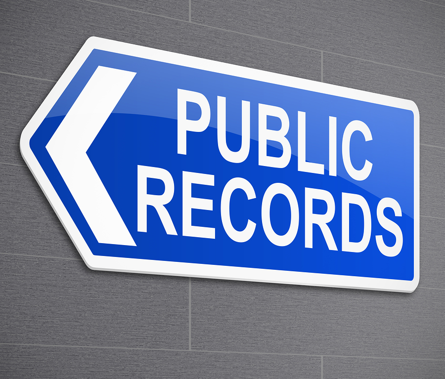 Public Records sign